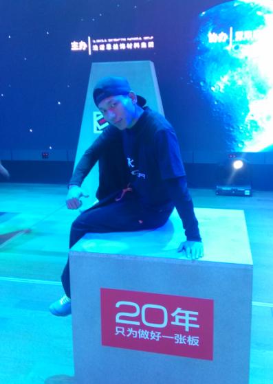 泊诺思2015年新品发布会跑酷演出-跑酷街